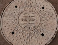 Montreal watermain manhole cover.