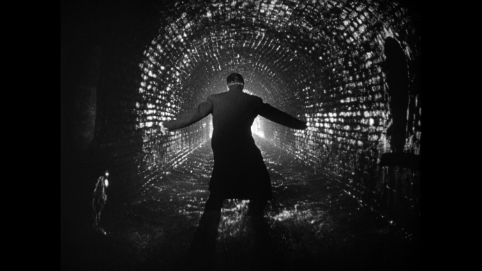 Still from the 1959 film, The Third Man, shot in a tunnel covering the river Wien.